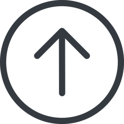 arrow-simple line, up, circle, arrow, direction, arrow-simple free icon 256x256 256x256px