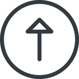 arrow line, up, normal, circle, arrow free icon 256x256 256x256px