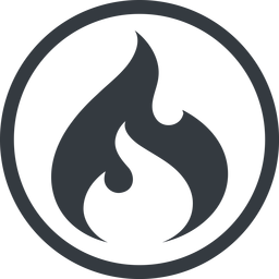 codeigniter line, normal, circle, logo, brand, icon, codeigniter, igniter, code, php, framework, flame, fire free icon 256x256 256x256px