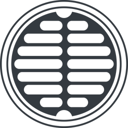 manhole-alt-solid line, up, normal, circle, manhole, sewer, sewer-manhole, metal, cover, manhole-alt-solid free icon 256x256 256x256px