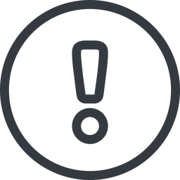 warning line, normal, circle, mark, warning, exclamation, alert free icon 256x256 256x256px