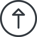 arrow line, up, normal, circle, arrow free icon 128x128 128x128px