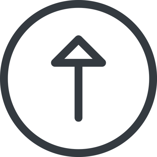 arrow line, up, normal, circle, arrow free icon 512x512 512x512px
