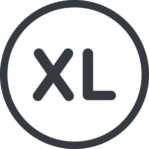 extra-large line, normal, circle, extra, size, large, xl, extra-large free icon 512x512 512x512px