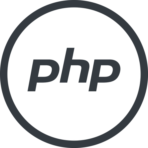 php line, normal, circle, logo, brand, php, hypertext, preprocessor free icon 512x512 512x512px