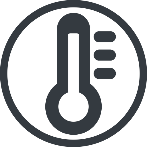 thermometer-high-solid line, normal, solid, circle, temperature, thermometer, heat, high, hot, thermometer-high, thermometer-high-solid free icon 512x512 512x512px