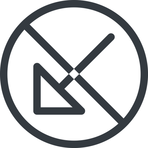 arrow-corner line, down, normal, circle, arrow, prohibited, corner, arrow-corner free icon 512x512 512x512px