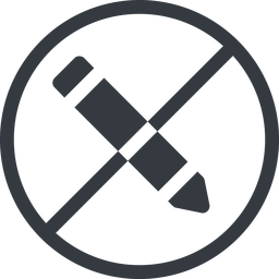 edit line, left, normal, wide, circle, prohibited, edit, pen, pencil, draw free icon 256x256 256x256px