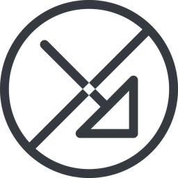 arrow-corner line, right, normal, circle, arrow, prohibited, corner, arrow-corner free icon 256x256 256x256px