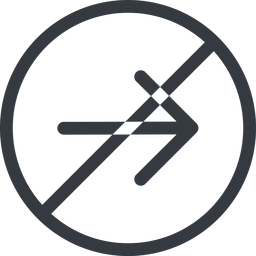 arrow-simple line, right, circle, arrow, direction, prohibited, arrow-simple free icon 256x256 256x256px