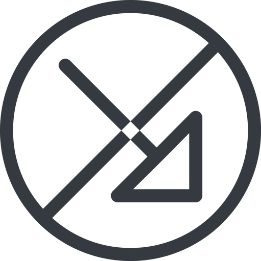 arrow-corner line, right, normal, circle, arrow, prohibited, corner, arrow-corner free icon 512x512 512x512px
