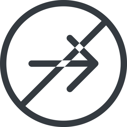 arrow-simple line, right, circle, arrow, direction, prohibited, arrow-simple free icon 512x512 512x512px