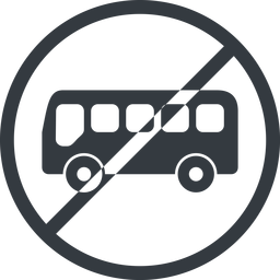 bus-side line, normal, wide, circle, horizontal, mirror, car, vehicle, transport, prohibited, bus, side, bus-side free icon 256x256 256x256px