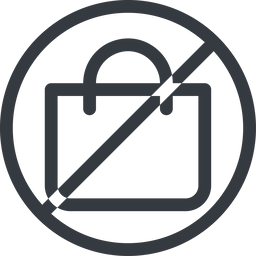 shopping-bag line, normal, circle, horizontal, mirror, prohibited, shopping, cart, market, handbag, bag, bags, shopping-bag free icon 256x256 256x256px