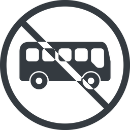 bus-side line, normal, wide, circle, car, vehicle, transport, prohibited, bus, side, bus-side free icon 256x256 256x256px