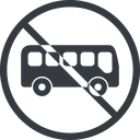 bus-side line, normal, wide, circle, car, vehicle, transport, prohibited, bus, side, bus-side free icon 128x128 128x128px