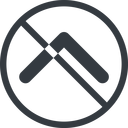 chevron-solid line, up, normal, circle, arrow, direction, prohibited, chevron, chevron-solid free icon 128x128 128x128px