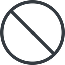 circle line, normal, circle, prohibited free icon 128x128 128x128px