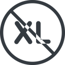 extra-large line, normal, circle, extra, size, large, xl, prohibited, extra-large free icon 128x128 128x128px