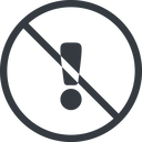 warning-solid line, normal, circle, mark, warning, exclamation, prohibited, warning-solid, alert free icon 128x128 128x128px