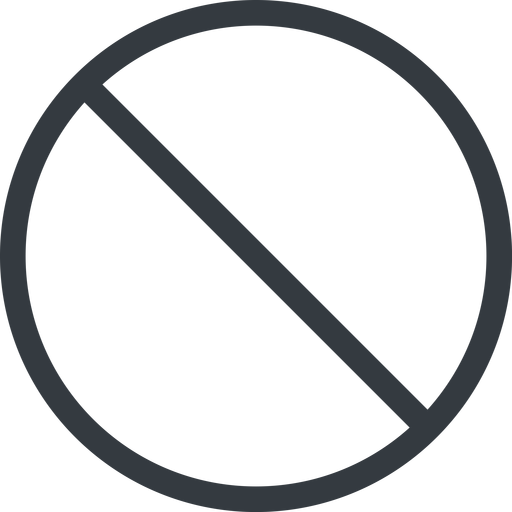 circle line, normal, circle, prohibited free icon 512x512 512x512px