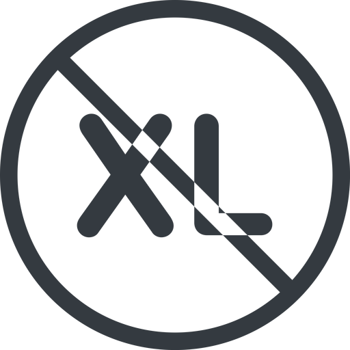 extra-large line, normal, circle, extra, size, large, xl, prohibited, extra-large free icon 512x512 512x512px