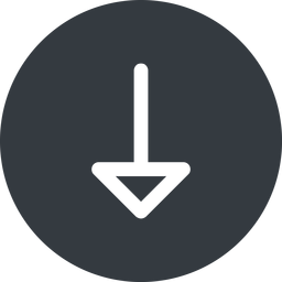 arrow down, normal, solid, circle, arrow free icon 256x256 256x256px