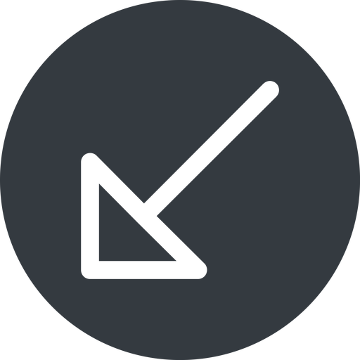 arrow-corner down, solid, circle, arrow, link, url, href, corner, arrow-corner free icon 512x512 512x512px