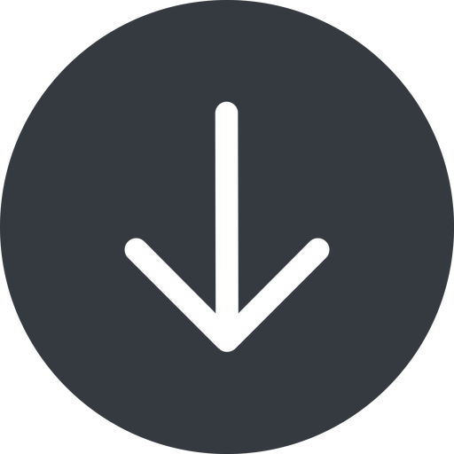 arrow-simple down, solid, circle, arrow, direction, arrow-simple free icon 512x512 512x512px