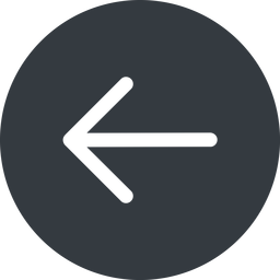 arrow-simple left, solid, circle, arrow, direction, arrow-simple free icon 256x256 256x256px