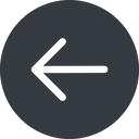 arrow-simple left, solid, circle, arrow, direction, arrow-simple free icon 128x128 128x128px