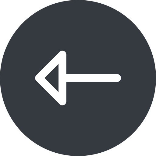 arrow left, normal, solid, circle, arrow free icon 512x512 512x512px