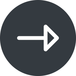 arrow right, normal, solid, circle, arrow free icon 256x256 256x256px