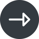arrow right, normal, solid, circle, arrow free icon 128x128 128x128px