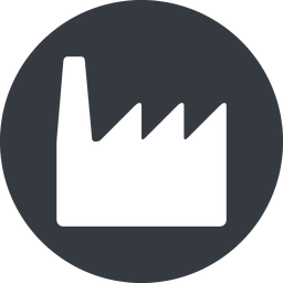 factory normal, solid, circle, horizontal, mirror, factory, industry free icon 256x256 256x256px