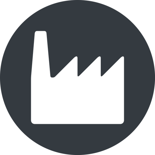 factory normal, solid, circle, horizontal, mirror, factory, industry free icon 512x512 512x512px