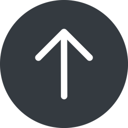 arrow-simple up, solid, circle, arrow, direction, arrow-simple free icon 256x256 256x256px