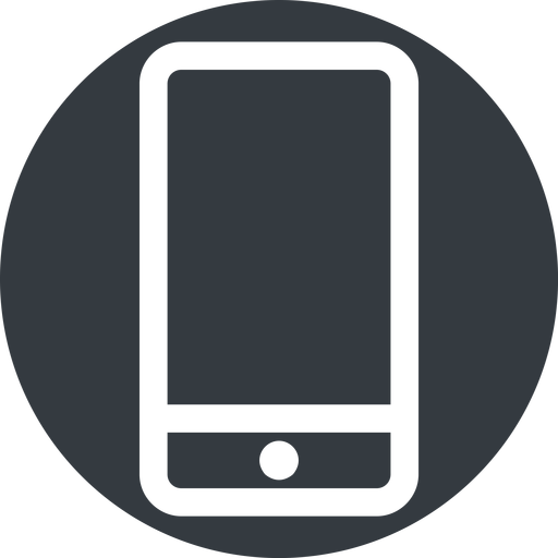 smartphone up, normal, solid, circle, iphone, phone, android, gsm, smartphone, cell free icon 512x512 512x512px