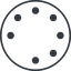 spinner-thin line, down, circle, spinner, spin, wait, load, loading, spinner-thin, loader free icon 64x64 64x64px