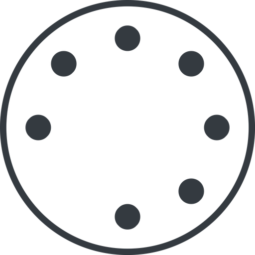 spinner-thin line, down, circle, spinner, spin, wait, load, loading, spinner-thin, loader free icon 512x512 512x512px