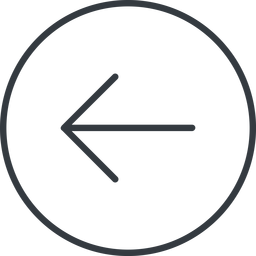 arrow-simple-thin thin, line, left, circle, arrow, direction, arrow-simple-thin free icon 256x256 256x256px