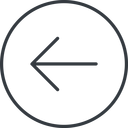 arrow-simple-thin thin, line, left, circle, arrow, direction, arrow-simple-thin free icon 128x128 128x128px