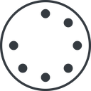spinner-thin line, left, circle, spinner, spin, wait, load, loading, spinner-thin free icon 128x128 128x128px