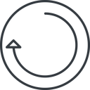 undo-thin thin, line, right, circle, horizontal, mirror, arrow, reload, refresh, undo, redo, undo-thin, restore free icon 128x128 128x128px