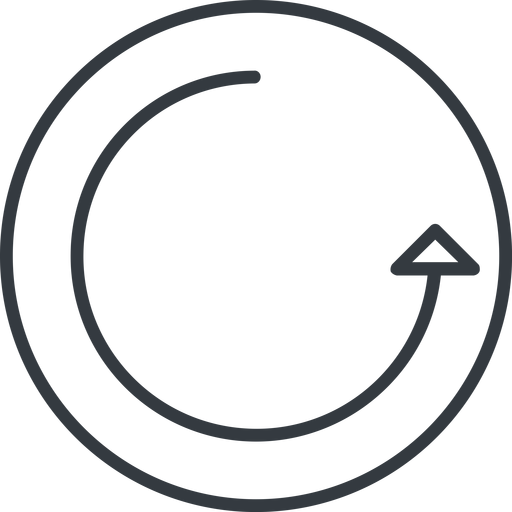 undo-thin thin, line, right, circle, arrow, reload, refresh, undo, redo, undo-thin, restore free icon 512x512 512x512px