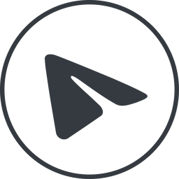 telegram thin, line, circle, logo, brand, horizontal, mirror, message, social, network, messenger, phone, brands, paper, messaging, app, plane, airplane, aeroplane, telegram, submit, send free icon 256x256 256x256px