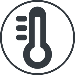 thermometer-high-solid thin, line, solid, circle, horizontal, mirror, temperature, thermometer, heat, high, hot, thermometer-high, thermometer-high-solid free icon 256x256 256x256px