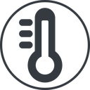 thermometer-high-solid thin, line, solid, circle, horizontal, mirror, temperature, thermometer, heat, high, hot, thermometer-high, thermometer-high-solid free icon 128x128 128x128px