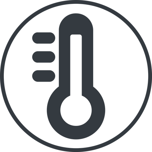 thermometer-high-solid thin, line, solid, circle, horizontal, mirror, temperature, thermometer, heat, high, hot, thermometer-high, thermometer-high-solid free icon 512x512 512x512px