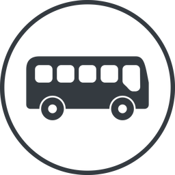 bus-side thin, line, wide, circle, car, vehicle, transport, bus, side, bus-side free icon 256x256 256x256px